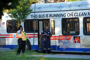 Scene of bus shooting at the intersection of 18th St., R St. and Minnesota Ave SE