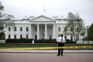 White House Flags Flown At Half Staff For Victims Of Boston Marathon Attack