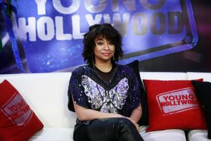 Raven-Symone Visits Young Hollywood Studio
