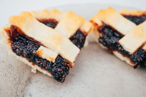 Close-Up Of Blueberry Pie