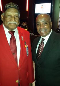 Randy Dennis with Tuskegee Airman Dr. Quintan